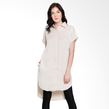 Papercut Fashion NK Kiyora Shirt Dress Wanita - Creme
