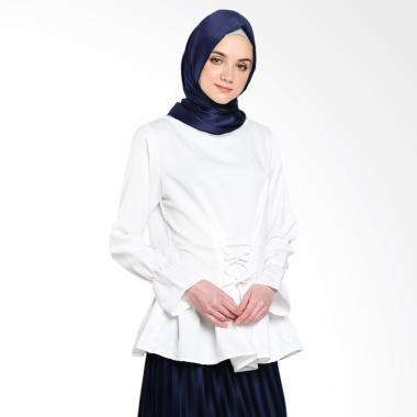 Covering Story Mardy Top D Blouses Muslim Atasan Wanita - Ivory