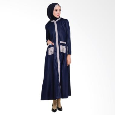 Allev Mufliha Abaya Dress Muslim Wanita - Navy