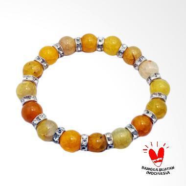 Vee Gelang Giok Oranye Spacer Gelang Terapi Kesehatan
