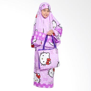 Zahra Kids Hello Kitty Polkadot Mukena Anak – Ungu