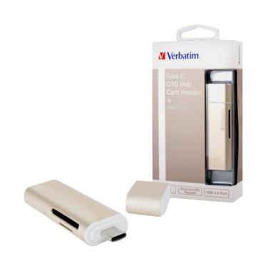 Verbatim USB Type C OTG Combo Hub Card Reader - Gold