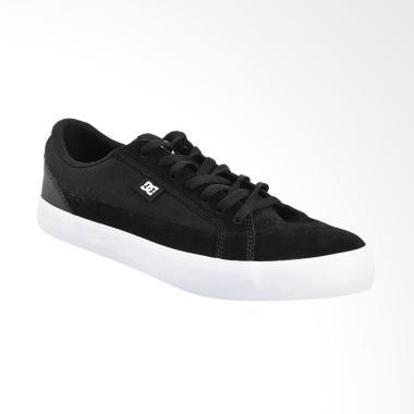 DC Lynfield S M Shoe Sepatu Sneaker Pria - Black White 9bfed59e15