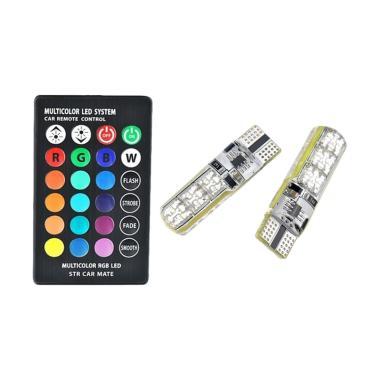 LED Lampu Senja t10 SMD 5050 Multicolour With Remote