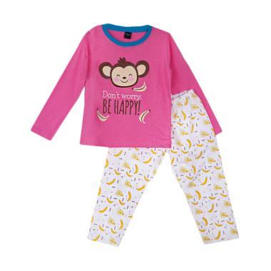 Amaris Fashion Banana Setelan Piyama Anak Perempuan - Pink