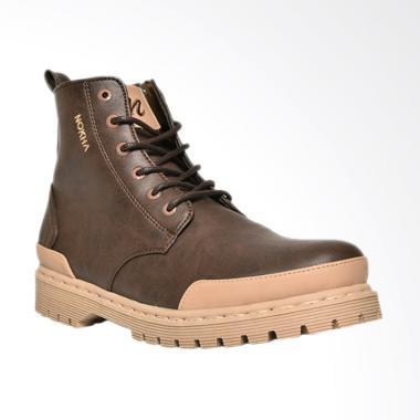 NOKHA Xander Sepatu Boots Wanita - Coffee