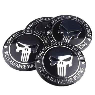 harga Emblem Sticker Aksesoris Motor Velg Mobil Alumunium Skull Punisher - Type C Hitam Blibli.com