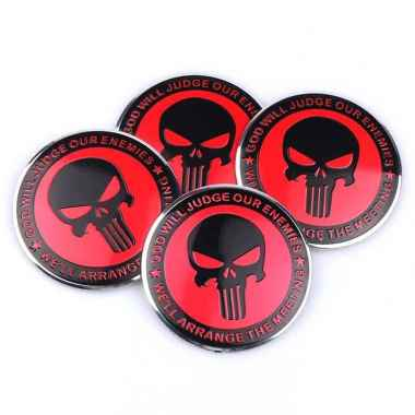 harga Emblem Sticker Aksesoris Motor Velg Mobil Alumunium Skull Punisher - Type C Merah Blibli.com