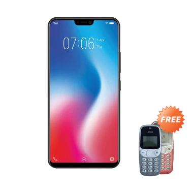 VIVO V9 Smartphone - Black [64GB/ 4GB] + Free Prince PC-5