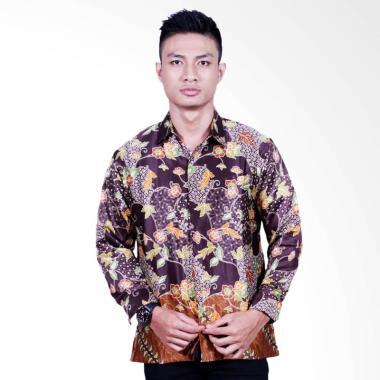 Jual Baju Batik Pria Lengan Panjang Warna Coklat Online - Harga Baru ... c7f3068ed5