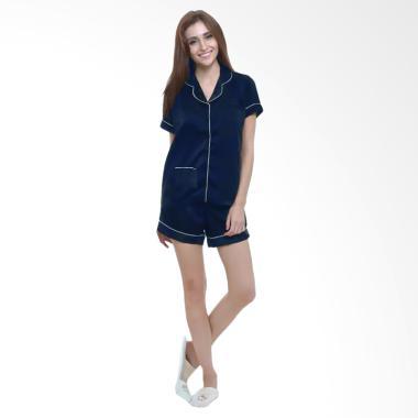 Deoclaus Fashion Setelan Piyama Baju Tidur Wanita - Blue