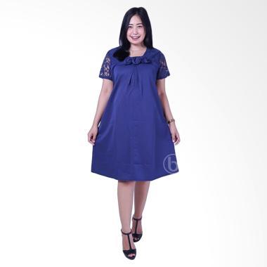 Mama Hamil DRO 794 Pesta Pita Celine Brokat Dress Hamil - Biru