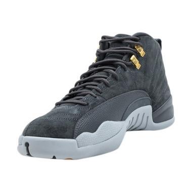 NIKE Air Jordan 12 Retro Sepatu Basket Pria - Grey