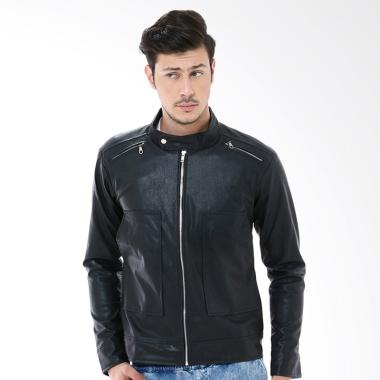 Crows Denim Fashionable Jaket Pria - Black