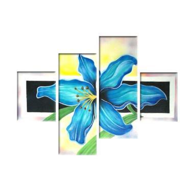 Lukisanku PJH3 Bunga Canvas Painting Lukisan