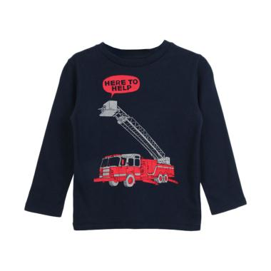 Cargo BG 18 Here Long Sleeve T-shirt Anak Laki-Laki - Navy