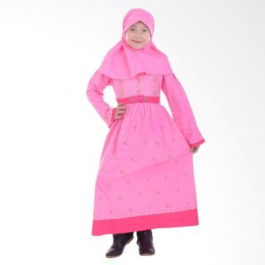 Jesca and Paul Clara 206 Gamis Baju Muslim Anak - Pink