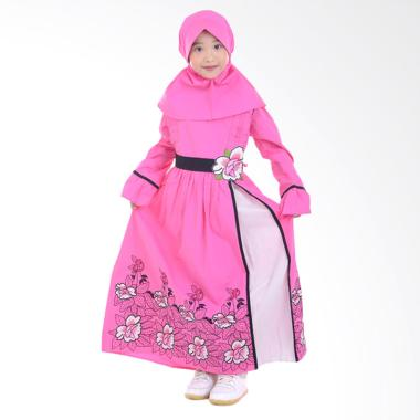 Jesca and Paul Ayesha 209 Gamis Baju Muslim Anak - Pink