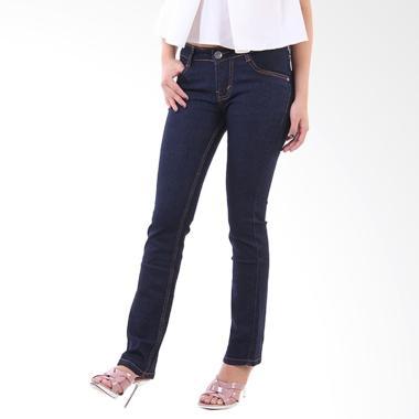 JSK Jeans Cutbray 9116 Celana Wanita - Biru Dongker