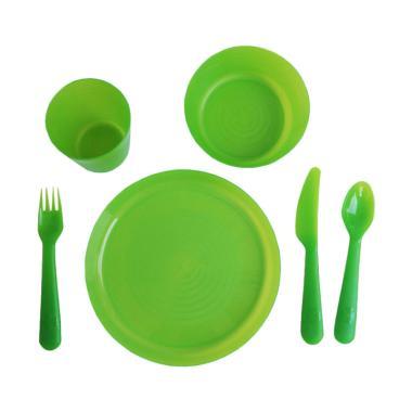 Ikea Set Peralatan Makan Anak - Hijau