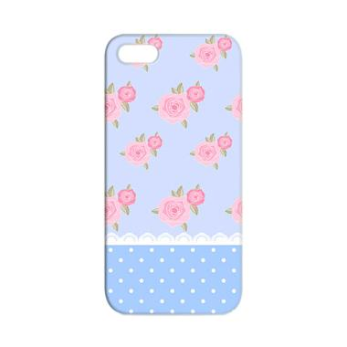 Premiumcaseid Cute Shabby Chic Blue ... Casing for iPhone 5 or 5s