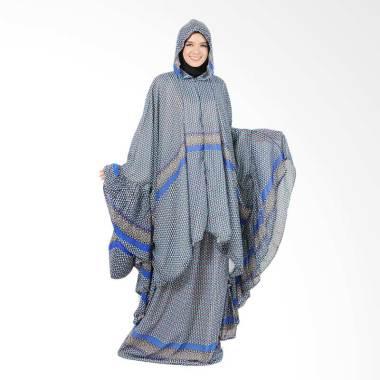 Boontie Arabela Alzeena Motif Biru Hitam Kalong Mukena