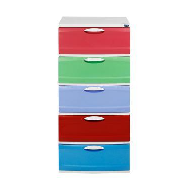 Rovega Atreo Lemari Plastik Premium - Multicolor [5 Susun]