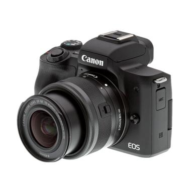 Canon EOS M50 Kit Lens 15-45mm IS STM Kamera Mirrorless - Black