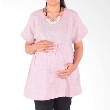 HMILL 1600 Baju Blouse Ibu Hamil dan Menyusui - Pink