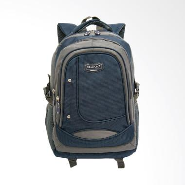 Real Polo 6308 Tas Ransel - Biru Tua + Bonus Bag Cover