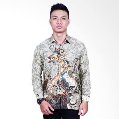 Batik Putri Ayu Solo Furing Kemeja  ... ang Pria - Hijau [KPJ605]