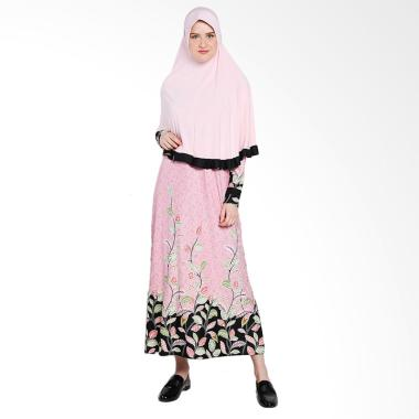 Koesoema Clothing Aisha Gamis Syari with Hijab - Pink [All Size]