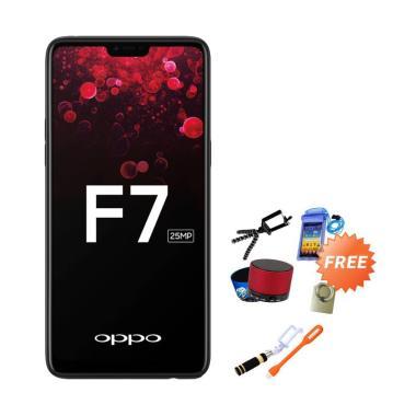 OPPO F7 Pro Smartphone - Black [128GB/ 6GB] + Free 8 Aksesoris