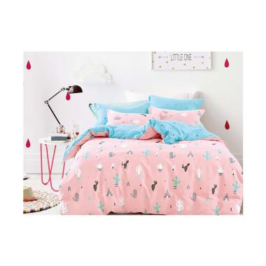 Leven Cotton Celine Bedroom Fitted  ... ang Set Sprei - Soft Pink