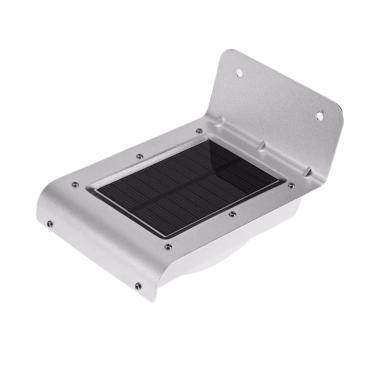 Universal Lampu Solar Sensor Gerak  ... LED Weatherproof - Silver