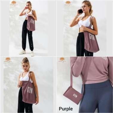 harga Totebag Yoga - Tas Olahraga Fashion Terbaru - Tas Matras Yoga Lipat - Purple Multicolor Blibli.com
