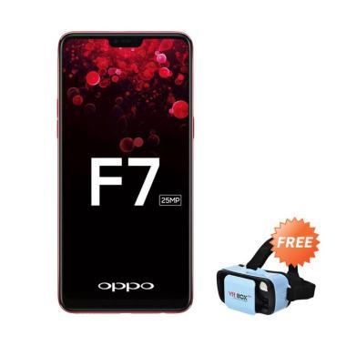 OPPO F7 Smartphone - Black [64 GB/ 4 GB] + Free VR BOX