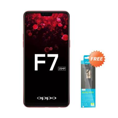 OPPO F7 Smartphone - Black [64GB/ 4GB] + Free Vivan Tongsis