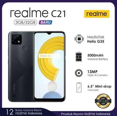 harga Realme C21 3/32 Garansi Resmi Hitam Silang Blibli.com