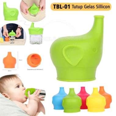 harga Jual Tutup Cover Botol Gelas Bayi silikon Training Cup Silicon TBL-01 - Blue Murah Blibli.com