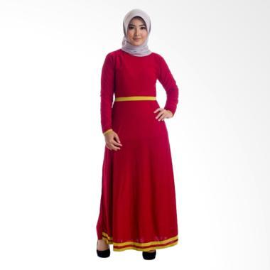 MIMUMOO Pitara Gamis Kaftan Abaya Dress Terusan Muslimash Syar'i - Red