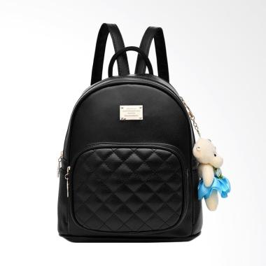 Purnama Import Bagcharm Boneka Backpack - Black