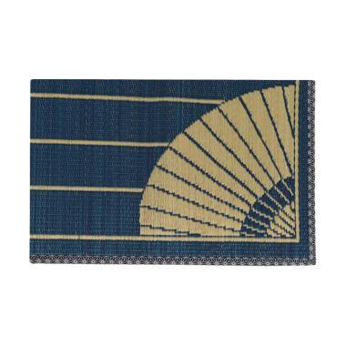 Hagihara Igusa Motif Payung Karpet - Biru [Kecil]
