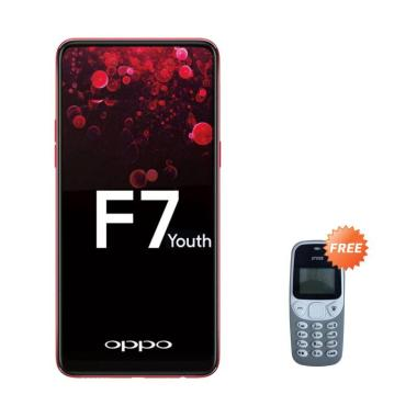 OPPO F7 Youth Smartphone - Red [64G ... ree Handphone Prince Pc-5