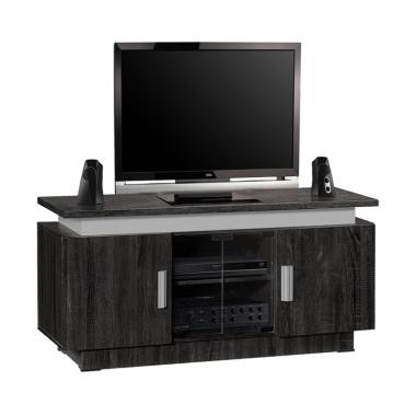 Popular Furniture CRD 8787 Meja TV - Black Coffee [Jabodetabek]
