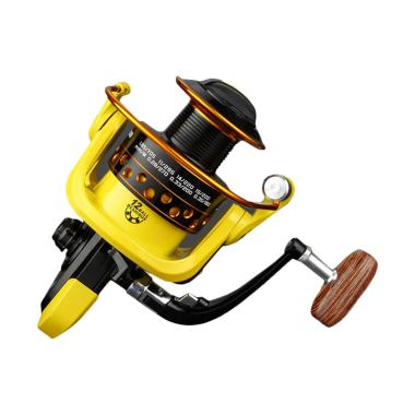Lieyuwang Reel Pancing HD6000 12 Ball Bearing - Black Yellow