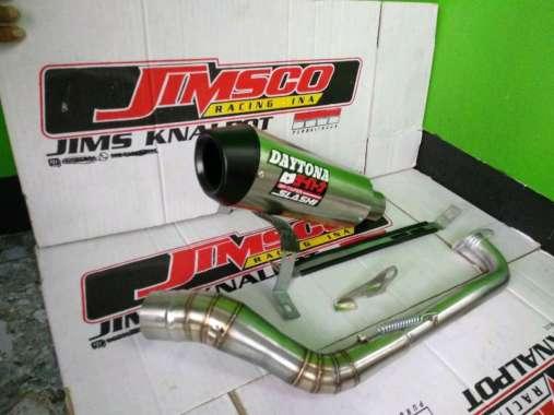 harga Knalpot racing Daytona Nmax PCX Aerox Vario 125 150 beat Mio j M3 X-Ride dll silver Blibli.com