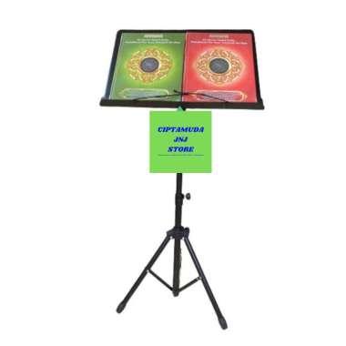 harga Standbook Tripod standing penyangga al quran - stand buku Rehal Blibli.com