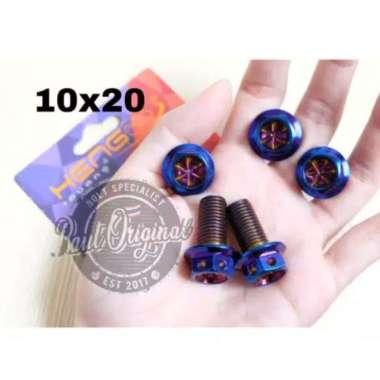 harga Baut probolt blue flower 10x20 drat 14 panjang 2 cm ori heng Multicolor Blibli.com