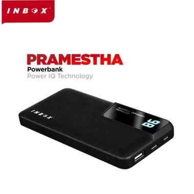 Inbox Pramestha Powerbank 10000mAh LED Fast Charging Power IQ 2.1A